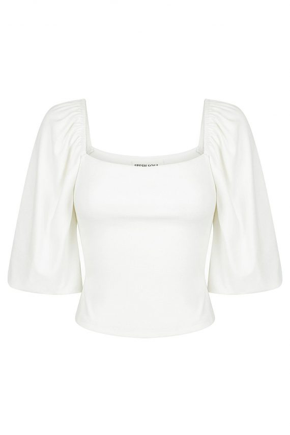 Dolcetto Top Ladies Top Colour is White