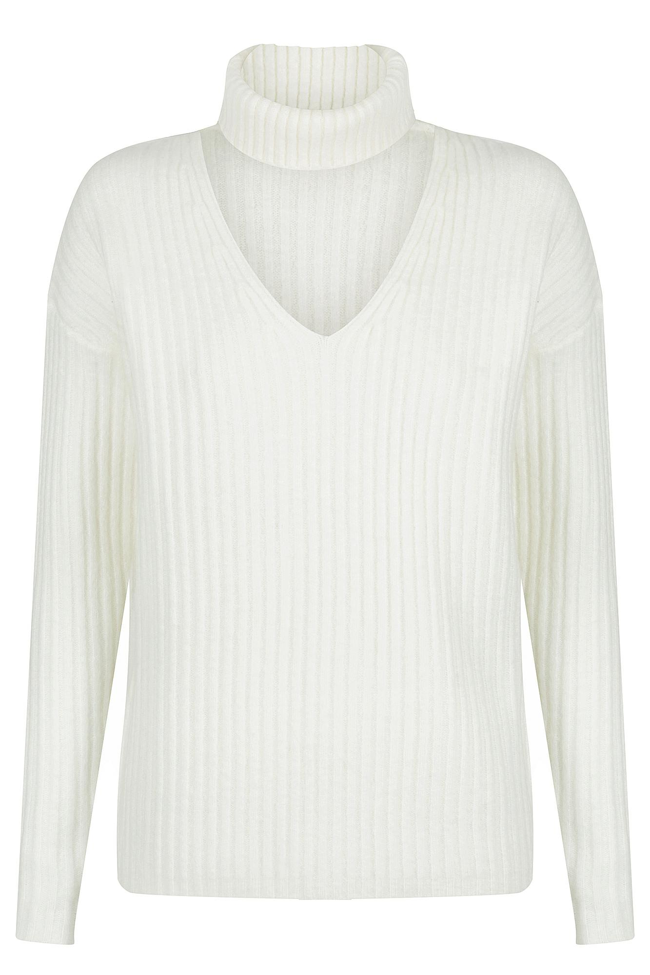 Noble Knit Top Ladies Knitwear Colour is White