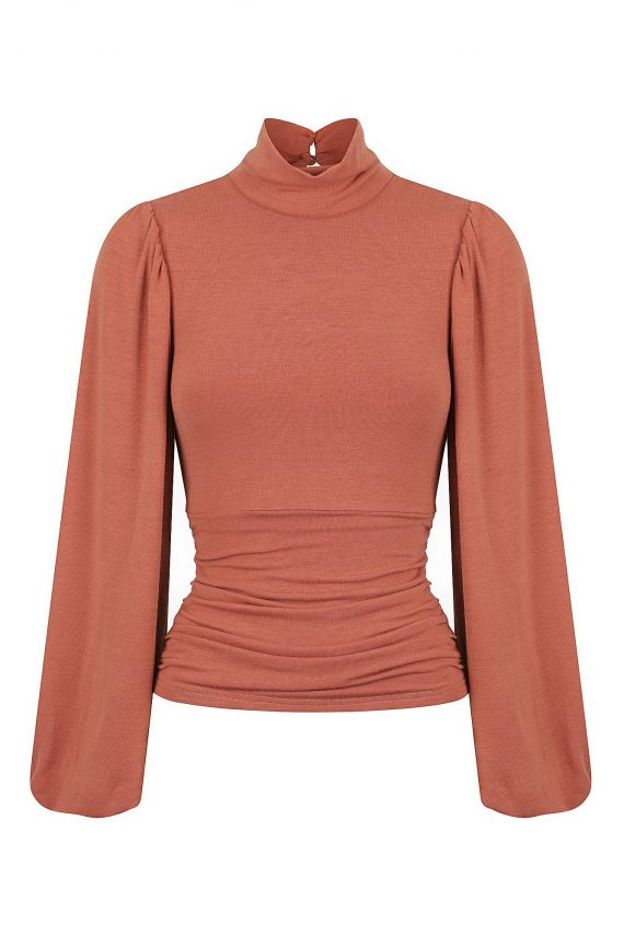 Sherry Top Ladies Top Colour is Rosewood