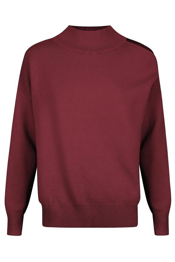 Lupine Knit Top Ladies Top Colour is Burgandy