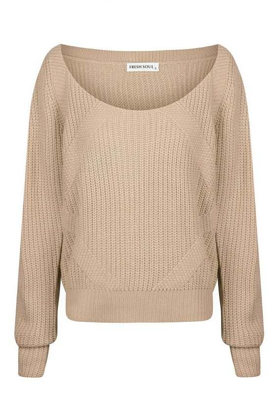 Gimlet Knit Top Ladies Top Colour is Beige